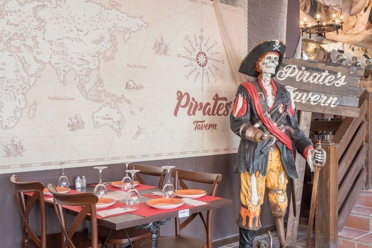 Restaurant 'pirate's tavern' apparthôtel magic tropical splash benidorm